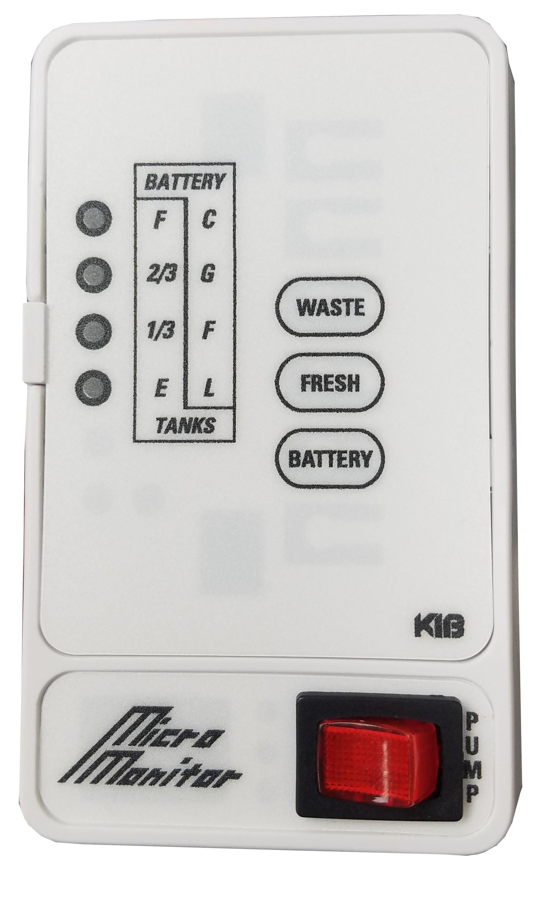 KIB 2 Tank Monitor Panel 12 volt - White Face Plate