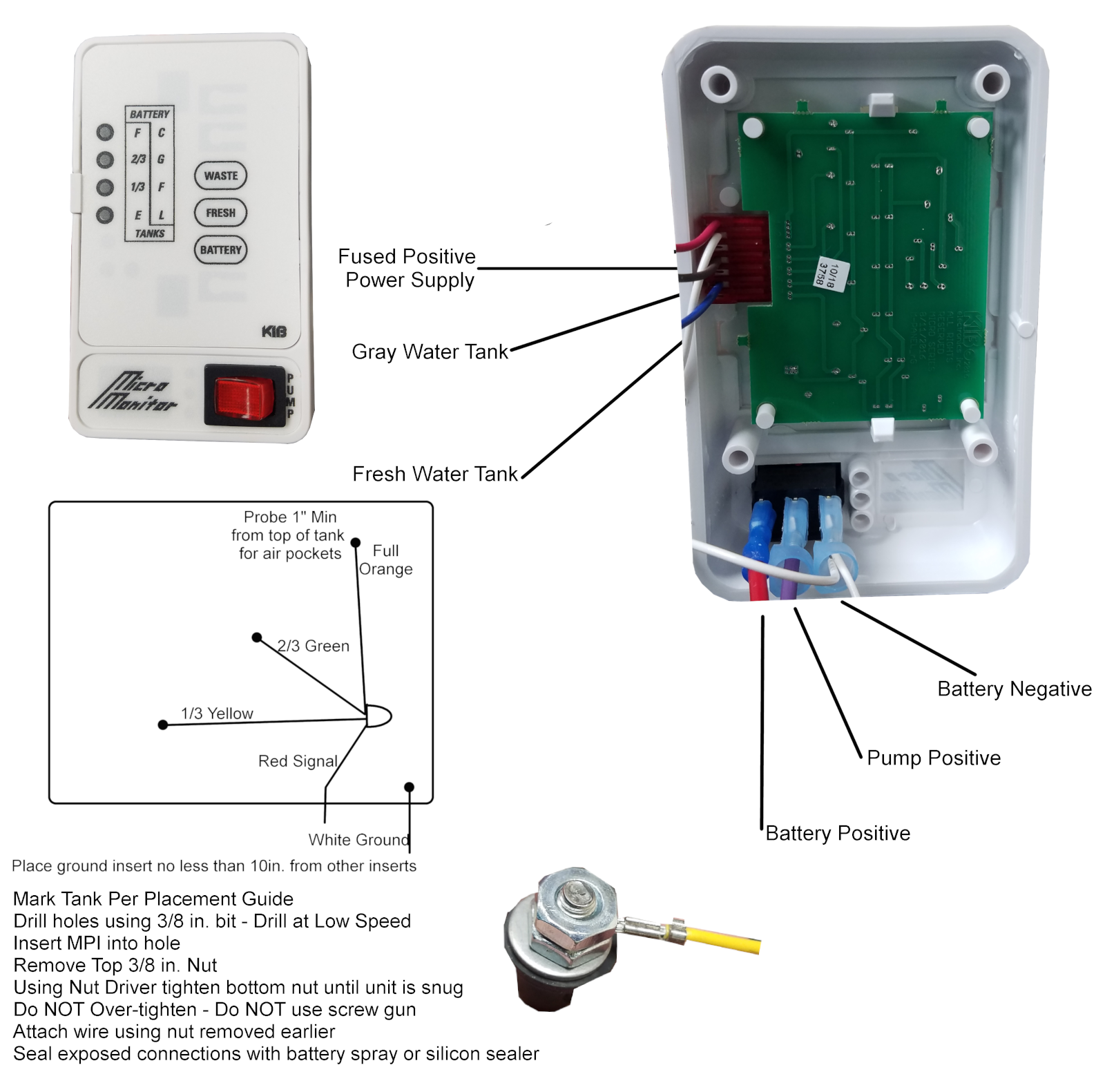 AD6327 Rv Tank Monitor Wiring Diagram | Wiring Resources 30 amp rv male plug wiring diagram Wiring Resources