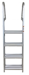 Fixed Aluminum Ladder - 4 Step
