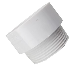 "1 1/2"" PVC Adapter Fitting - White"