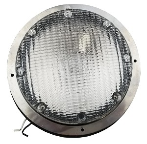 Round RV Scare Light w/ Clear Lens