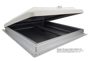 Heng's 66621-C2 RV Escape Hatch Roof Vent