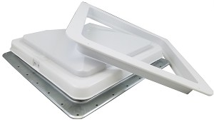 "71111-C Heng's 14"" Standard RV Roof Vent w/ White Lid"
