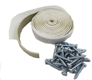 "Install Kit Vent - 70"" Putty Tape & 28 Screws"