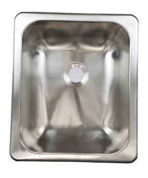"13"" x 15"" x 5"" Stainless Steel Sink Single Bowl"