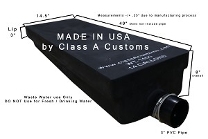 14 Gallon Black Water Holding WASTE TANK