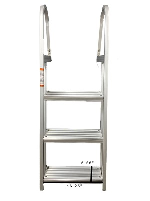 Fixed Aluminum Ladder - 3 Step